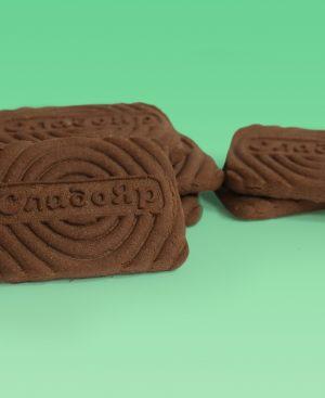 Печенье сахарное шоколадное