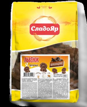 Печенье сахарное «Львенок» шоколадное