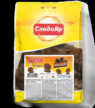 """Печенье сахарное """"Львенок"""" шоколадное"""